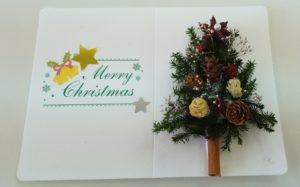 アロマテラピー講座で作ったクリスマスカード