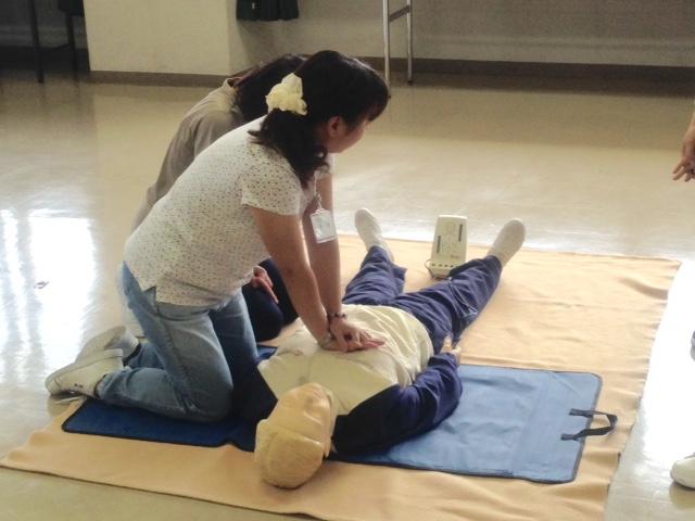 普通救命講習を受講しました。《生活訓練》
